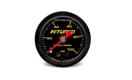 K-TUNED FUEL PRESSURE GAUGE LIQUID FILLED (0-100 PSI)